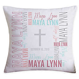 Christening Day Personalized 18-Inch Throw Pillow