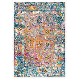 JONATHAN Y Bohemian Flair Boho Vintage Faded 8' x 10' Area Rug in Cream