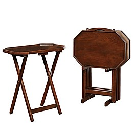 Powell Lawton Espresso Tray Tables (Set of 4)