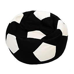 Norka Living Soccer Ball Bean Bag Chair in Black/White