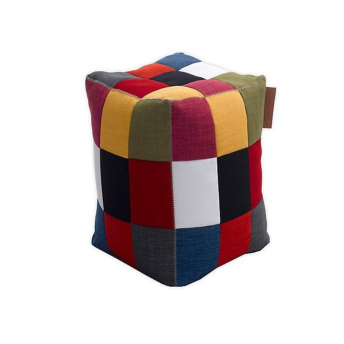 Alternate image 1 for Lazy Life Cube Bean Bag Ottoman