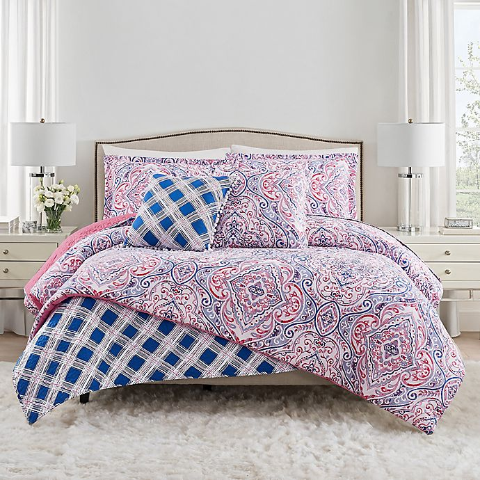 Alternate image 1 for Isaac Mizrahi Home Natalia 3-Piece Comforter Set