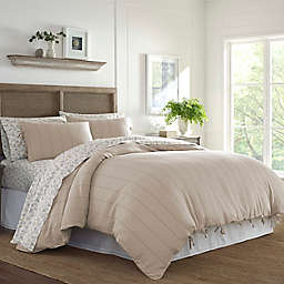 Laura Ashley® Landon 3-Piece King Duvet Cover Set in Beige