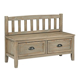 Simpli Home™ Burlington 2-Drawer Storage Bench