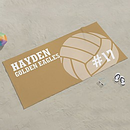 Volleyball Personalized Beach Towel