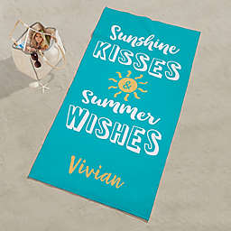 Sunshine Kisses Personalized Beach Towel