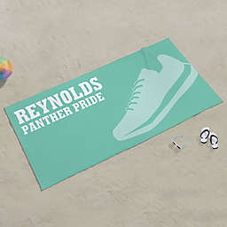 Track & Field Personalized Beach Towel