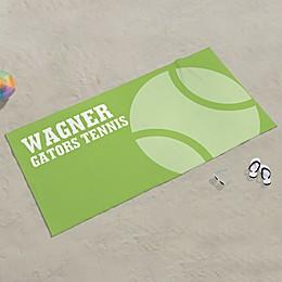 Tennis Personalized Beach Towel