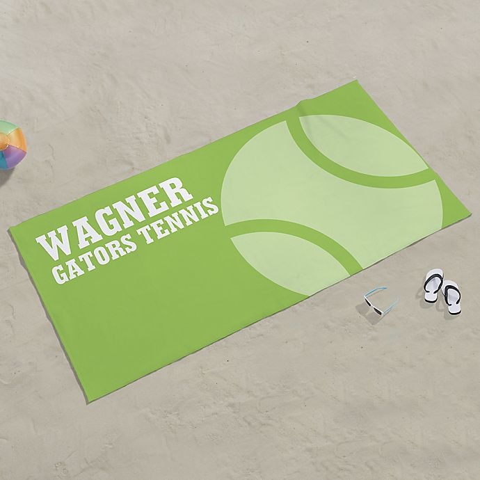 Alternate image 1 for Tennis Personalized Beach Towel
