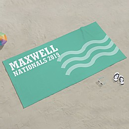 Swimming Personalized Beach Towel