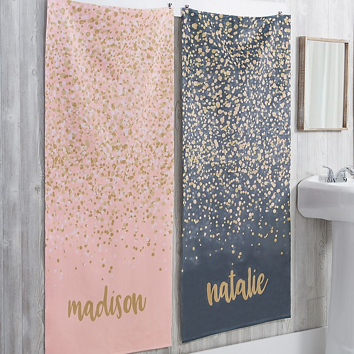 Alternate image 1 for Sparkling Name Personalized Bath Towel