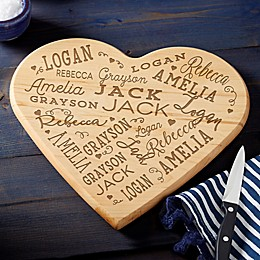 Close to Her Heart Personalized Heart Shaped Cutting Board