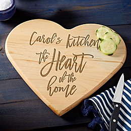 Heart of the Home Personalized Heart Shaped Cutting Board