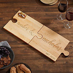 Couples Kitchen Personalized Puzzle Piece Cutting Board
