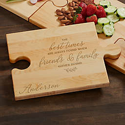 Gather Round Personalized Puzzle Piece Cutting Board