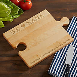 We Love... Engraved Puzzle Piece Cutting Board