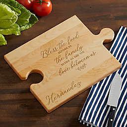 Family Blessings Personalized Puzzle Piece Cutting Board
