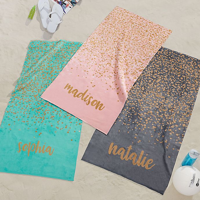 Alternate image 1 for Sparkling Name Personalized Beach Towel