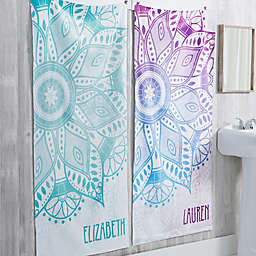 Mandala Personalized Bath Towel