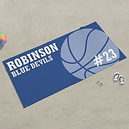 Basketball Personalized Beach Towel