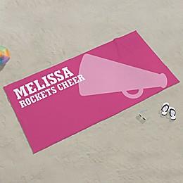 Cheerleading Personalized Beach Towel