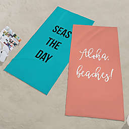 Expressions Personalized Beach Towel
