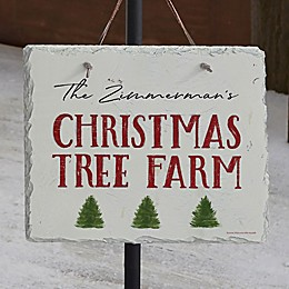Christmas Tree Farm Personalized Slate Plaque