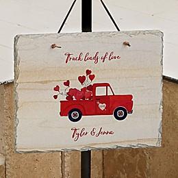 Rustic Valentine Truck Personalized Slate Plaque