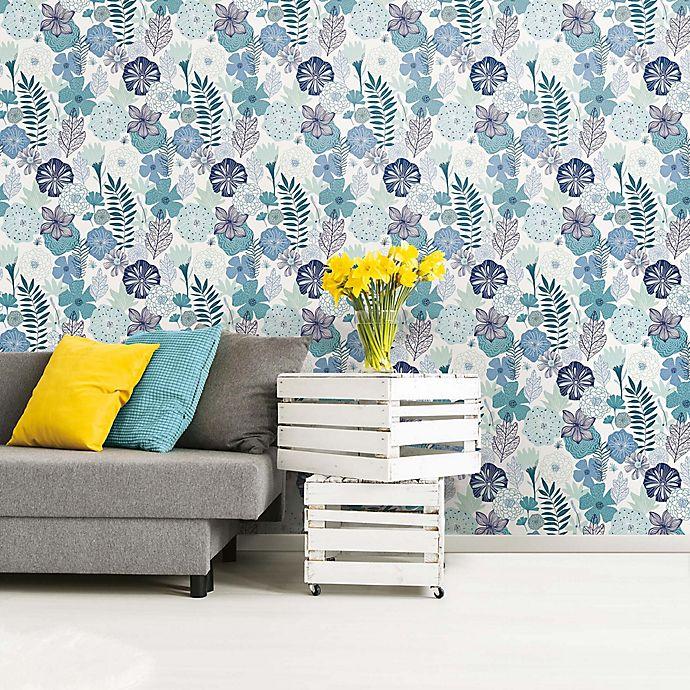 Alternate image 1 for Roommates® Perennial Blooms Vinyl Peel & Stick Wallpaper