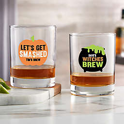Let's Get Smashed Halloween Personalized Whiskey Glass