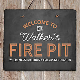 Welcome To... Personalized Outdoor Slate Sign
