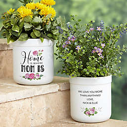 Home Is Where Mom Is Personalized Outdoor Flower Pot