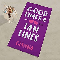 Good Times & Tan Lines Personalized Beach Towel