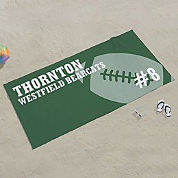 Football Personalized Beach Towel
