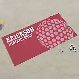 Golf Personalized Beach Towel