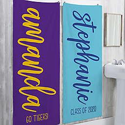 Grad Scripty Style Personalized Bath Towel