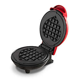 Dash® Heart Mini Waffle Maker in Red