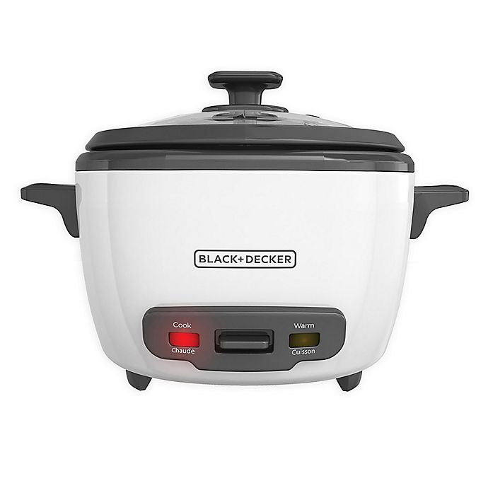 Alternate image 1 for Black & Decker™ 14-cup Rice Cooker in White