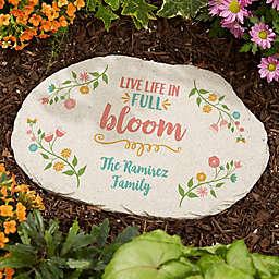 Floral Garden Personalized Round Garden Stone