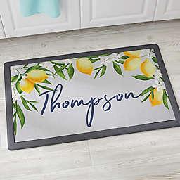 Lovely Lemons Personalized Kitchen Mat