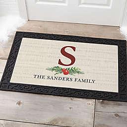 Nostalgic Noel Personalized Doormat