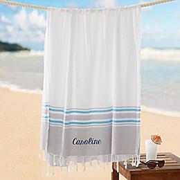 Turkish Cotton Embroidered Beach Towel