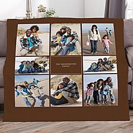 Photomontage Personalized Photo Fleece Blanket