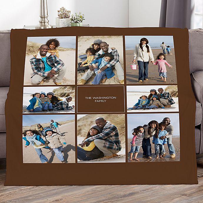 Alternate image 1 for Photomontage Personalized Photo Fleece Blanket