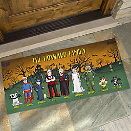 Halloween Family Characters Personalized Oversized Doormat