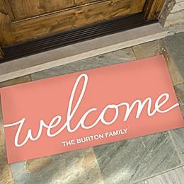 Hello & Welcome Personalized Oversized Doormat