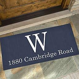 Modern Style Personalized Monogram Oversized Doormat