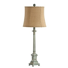 Safavieh Collin Table Lamp in Blue with Fabric Lamp Shade