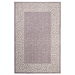 Marmalade™ Eloise 5' x 7' Area Rug with Cheetah Border in Purple/Beige