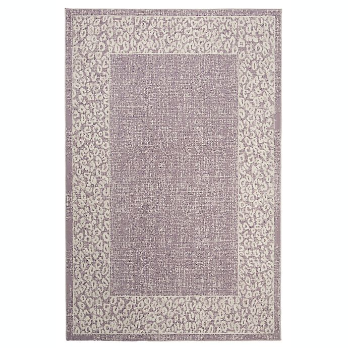 Alternate image 1 for Marmalade™ Eloise 5' x 7' Area Rug with Cheetah Border in Purple/Beige